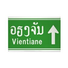 Vientiane Lao / Laos Traffic Sign Rectangle Magnet