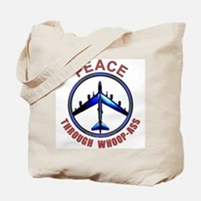 """Peace through Whoop-Ass"" Tote Bag"