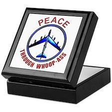 """""""Peace through Whoop-Ass"""" Keepsake Box"""