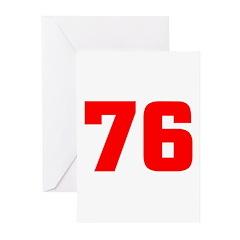 NUMBER 76: WE'VE GOT YOUR NUM Greeting Cards (Pk o