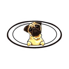 Fawn Pug Lover Patches