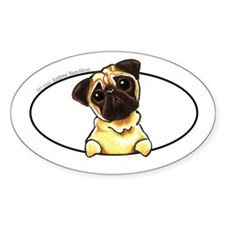 Fawn Pug Lover Decal