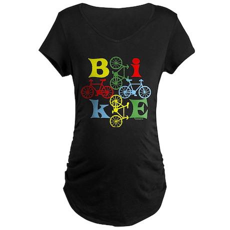 Four Bikes Maternity Dark T-Shirt