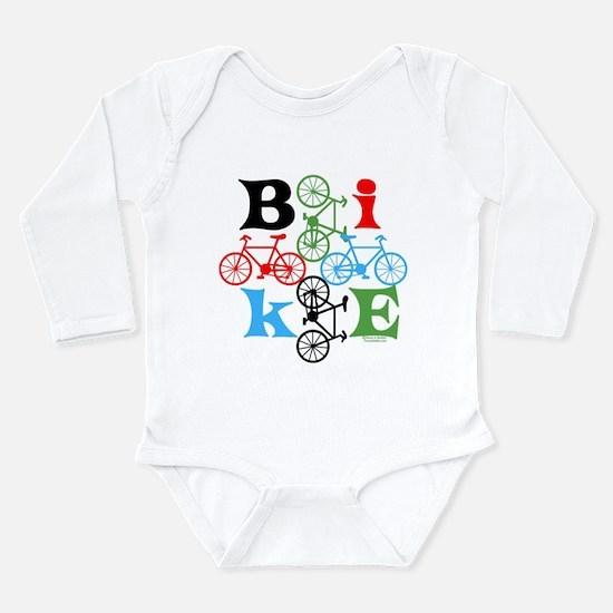 Four Bikes Long Sleeve Infant Bodysuit