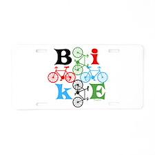 Four Bikes Aluminum License Plate