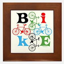 Four Bikes Framed Tile