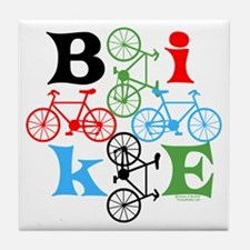 Four Bikes Tile Coaster
