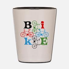 Four Bikes Shot Glass