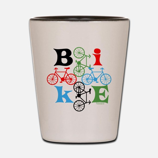 Four Bikes Shot Glass