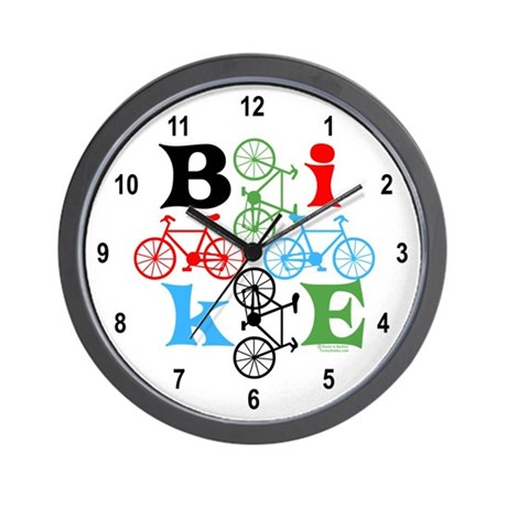 Four Bikes Wall Clock