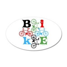 Four Bikes Wall Decal