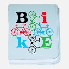 Four Bikes baby blanket