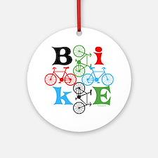 Four Bikes Ornament (Round)