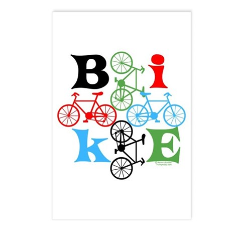 Four Bikes Postcards (Package of 8)