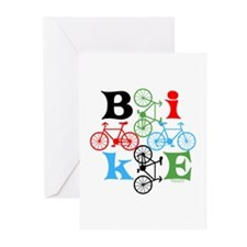 Four Bikes Greeting Cards (Pk of 20)