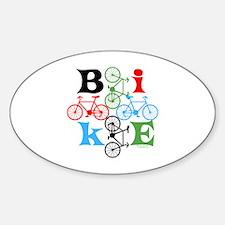 Four Bikes Sticker (Oval)