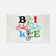 Four Bikes Rectangle Magnet