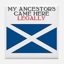 Scottish Heritage Tile Coaster
