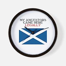 Scottish Heritage Wall Clock