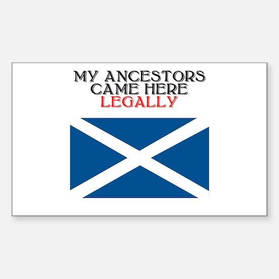 Scottish Heritage Rectangle Bumper Stickers