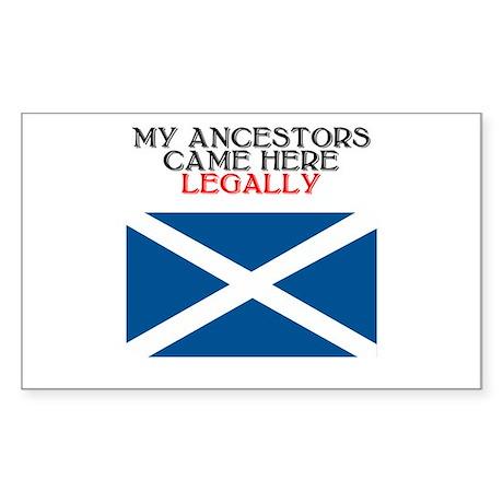 Scottish Heritage Rectangle Sticker