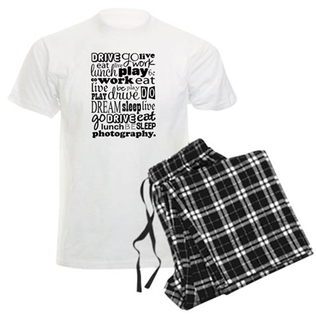Photography Life Quote Funny Men's Light Pajamas