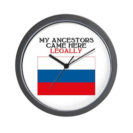 Russian Heritage Wall Clock