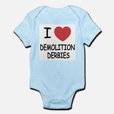i heart demolition derbies Infant Bodysuit