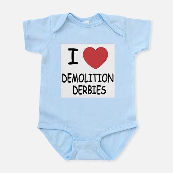 i heart demolition derbies Infant Bodysuit