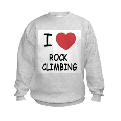 i heart rock climbing Kids Sweatshirt