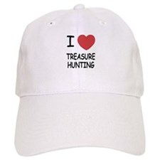 i heart treasure hunting Baseball Cap