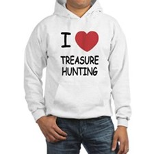 i heart treasure hunting Hoodie