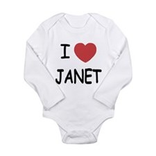 i heart janet Long Sleeve Infant Bodysuit