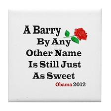 Cute Barry president Tile Coaster
