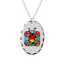Colorful Bikes Necklace