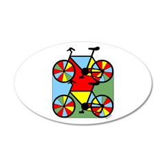 Colorful Bikes Wall Decal