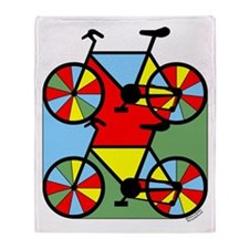 Colorful Bikes Throw Blanket