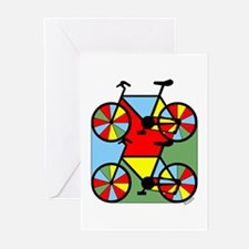 Colorful Bikes Greeting Cards (Pk of 10)