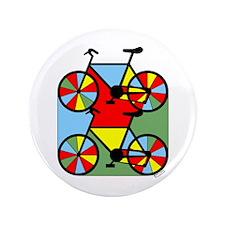 """Colorful Bikes 3.5"""" Button"""