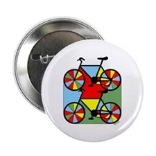 """Colorful Bikes 2.25"""" Button (100 pack)"""