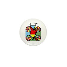 Colorful Bikes Mini Button (10 pack)