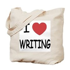 i heart writing Tote Bag