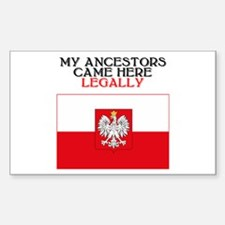 Polish Heritage Rectangle Bumper Stickers