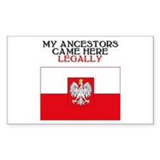 Polish Heritage Rectangle Decal