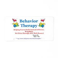 Behavior Therapy Aluminum License Plate