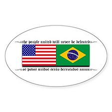 USA - Brazil Oval Decal