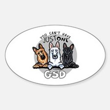 Just One GSD Sticker (Oval)