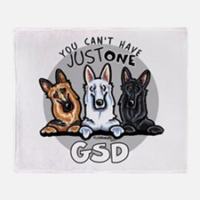 Just One GSD Throw Blanket