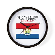 Dutch Heritage Wall Clock