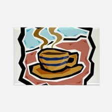 Coffee3 Rectangle Magnet
